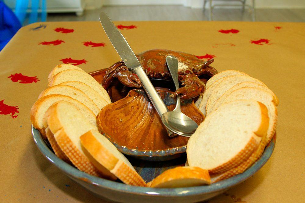 a prepared seafood dish